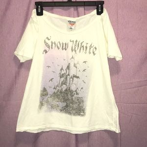 Snow White off the shoulder tee